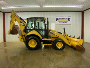 Caterpillar 420f Cab Backhoe Loader With Ac heat Auto Idle And 4x4