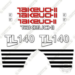 Takeuchi Tl140 Decal Kit Skid Steer Decals Equipment Decals non High flow