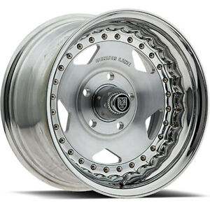 15x4 Centerline 000p Convo Pro Polished Wheels Rims 06 5x4 75 Qty 2
