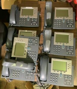 Lot Of 7 Cisco Ip Phones 7962