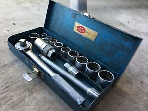 Vintage S K Wayne 3 8 Drive Socket Set Usa