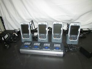 Lot Of 5 Intermec Cn2 Mobile Computer Barcode Scanner With Stand And Charger cl
