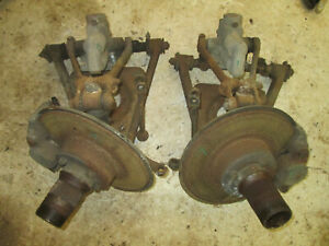 Mg Mgb Front Suspension W Wire Wheel Hub From A 78 Mgb Had 14k Miles