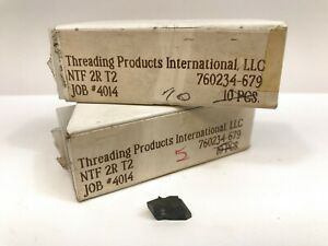 Threading Products International Ntf 2r T2 New Carbide Inserts 15pcs