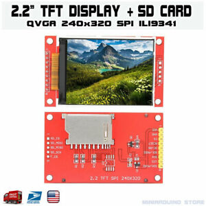 2 2 Serial Ili9341 Spi Tft Lcd Display Module 240x320 Chip Pcb Adapter Sd Card