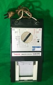 Simpson Multicorder 605 Dc Ac A Ma Ua Thermal Chart Recorder