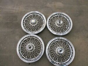 4 Oem 1986 96 Chevy Caprice Classic Brougham 15 Wire Spoke Hubcap Wheel Cover