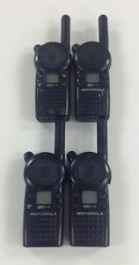 Motorola Cls1110 5 mile 1 channel Uhf Two Way Radio Good Condition Lot Of 4
