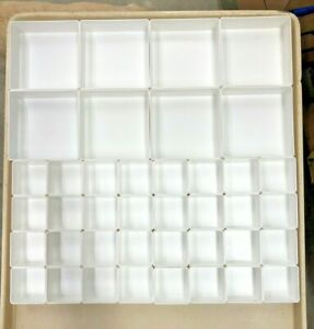 40 pba White 2 Sizes Organizer Trays Toolbox Dividers Cups Fit Lista Vidmar