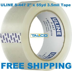 12 Rolls Uline S 447 2 X 55 Yds Clear 3 5 Mil Heavy duty Packing Shipping Tape
