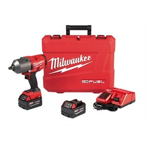 Milwaukee 2767 22 M18 Fuel High Torque 1 2 Impact Wrench Kit With Friction Ring