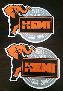 2 Hemi 426 50th Year Stickers Decals 4x5 Racing Drags Nhra Hotrods Nostalgia