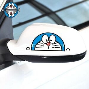 Doraemon Japanese Cat Cute Decal Cover Reflective Windshield Car Stickers 1pair