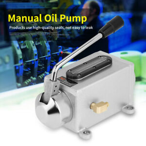 1x Lubricating Manual Oil Pump Hand Lubrication 500cc Cnc Double Outlet Port New