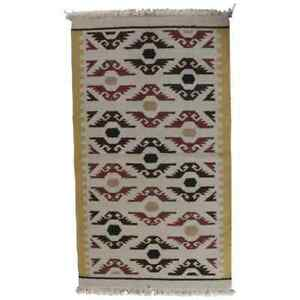Native American Indian Navajo Style Area Rug Stylized Eagles 20th Century