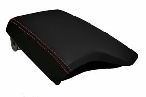Fits 2019 2020 Ford Ranger Pvc Leather Console Lid Armrest Cover Red Stitch