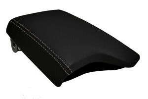 Fits 2019 2020 Ford Ranger Pvc Leather Console Lid Armrest Cover Gray Stitch