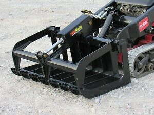 42 Heavy Duty Root Grapple Bucket Attachment Fits Toro Dingo Mini Skid Steer