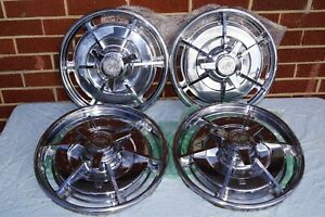 Original 1963 Corvette Wheel Covers With Spinners Set Of Four