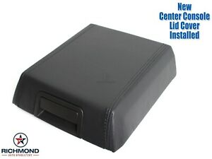 2007 2014 Ford Expedition Leather Center Console Lid Replacement Cover Black
