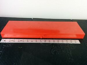 Ag379 Nice Kra282 Snap On Tools Red Metal 19 5 X6 Box Storage Case Kra 282