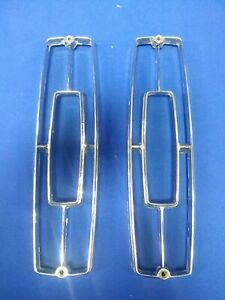 1965 Cadillac Tail Light Reverse Light Trim Set Chrome Bezel