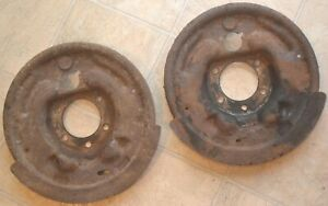 1961 1964 Ford Galaxie Rear Brake Backing Plate Carrier Assemblies Oem 1962 1963