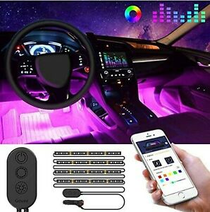 Govee Unifilar Car Led Strip Light Minger App Controller Car Interior Lights
