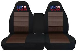 Front Set Car Seat Covers Fits Ford F150 Truck 97 03 40 60 Highback W Console