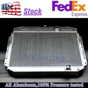 61 62 63 64 Ford F100 Pickup Truck 6 Cyl Cooling 3 Row Aluminum Radiator Ec6164