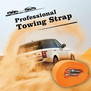 3 X 20 Heavy Duty Recovery Winch Tow Strap Hooks Webbing Rope Chain Towing