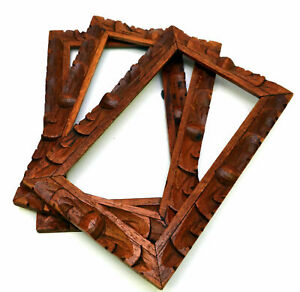 Matching Wooden Hand Carved Photo Frames Gallery Wall Picture Frame Set Of 3