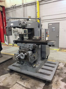 12 5 X 51 Polamco Jafo Fwd3combination Universal Horizontal vertical Mill With