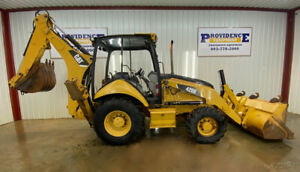 Cat 420e Loader Backhoe With Open Rops 4x4 Float Pilot Controls