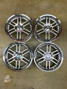 18x7 5 Racing Hart M6 Wheels 2 Piece 4x100 4x114 3 Et 44