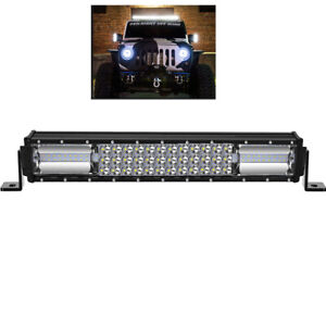 16 Inch Cree Led Work Light Bar 1620w Flood Spot Combo Offroad Driving Lamp 16