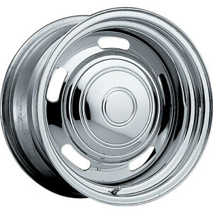 2 New 15x8 Pacer 173c Chrome Rallye Steel Wheels Rims 06 5x5 00