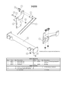 Western Fisher Snow ex 31253 Mount Kit For Personal Plow 2009 2014 Ford F 150