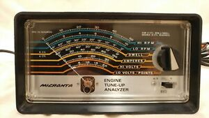 Vtg Micronta Engine Tune Up Analyzer 4 Cyl Rpm Dwell Double 8 Cylinders 6