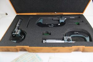 Mitutoyo Numeratic Outside Micrometer Set 0 3 No 193 923 Excellent Condition