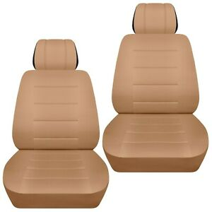 Front Set Car Seat Covers Fits Nissan Quest 1998 2017 Solid Tan
