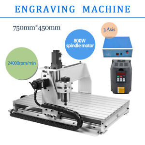 6040 Engraving Milling Machine Cutter 3 Axis Cnc Router 3 Rotating Axis Usb Port