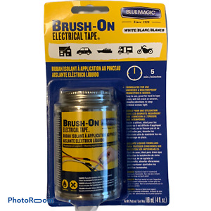 Blue Magic Brush on Electrical Tape Flexible Rubber Waterproof 4 Oz white