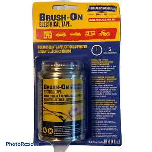 Blue Magic Brush on Electrical Tape Flexible Rubber Waterproof 4 Oz red