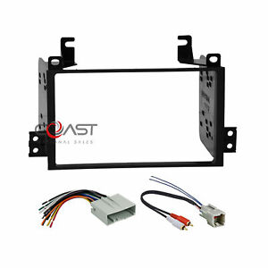 Car Radio Stereo Double Din Dash Kit Wire Harness For 2003 11 Lincoln Town Car