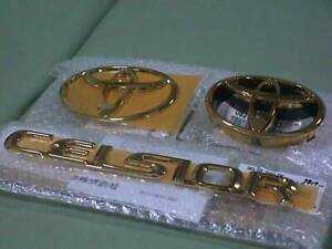New Toyota Ucf 30 31 Celsior Genuine 24 Gilded Gold Emblem Set Oem After Minor
