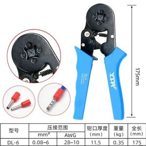 1pcs Awg 28 10 Awg 0 08 6m Wire Cable Ferrule Crimper Crimping Tool