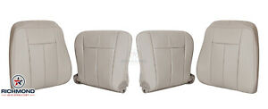 2010 2011 Ford Expedition Ac driver passenger Complete Leather Seat Covers Gray