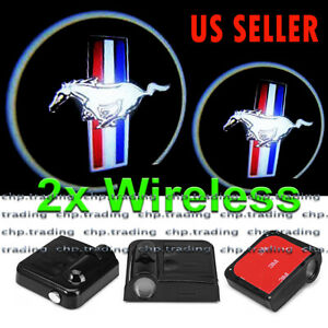 Mustang 2x Wireless Ghost Shadow Projector Logo Led Light Courtesy Door Step