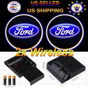 Ford 2x Wireless Ghost Shadow Projector Logo Cree Led Light Courtesy Door